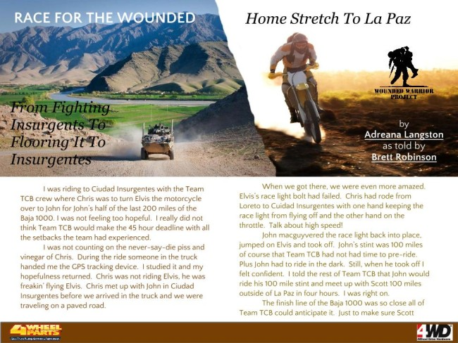Can a team of motorcycle riding Iraq and Afghanistan U.S. Veterans make it across the 45th Baja 1000 finish line in 45 hours?