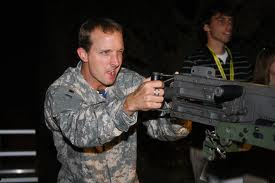 Colin Edwards on a M2 .50 cal.