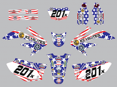 Tony Scott #201x 2007- 2008 CRF450X Full Kit